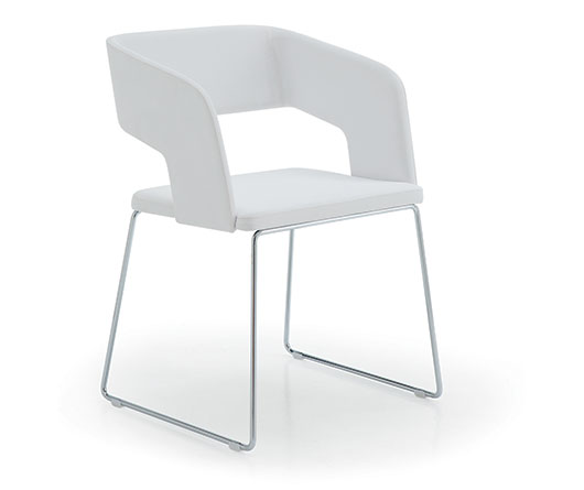 Sedie moderne metallo busetto sedia moderna s 453 for Arredo casa gaiarine